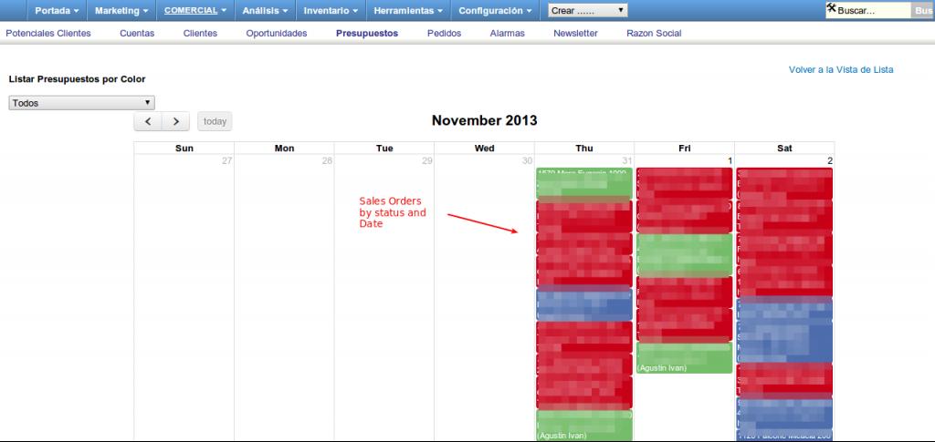 Calendar View vTiger custom Modules