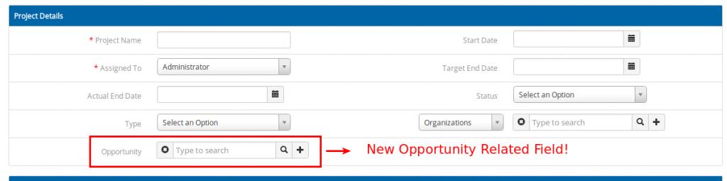 Opportunity in project module