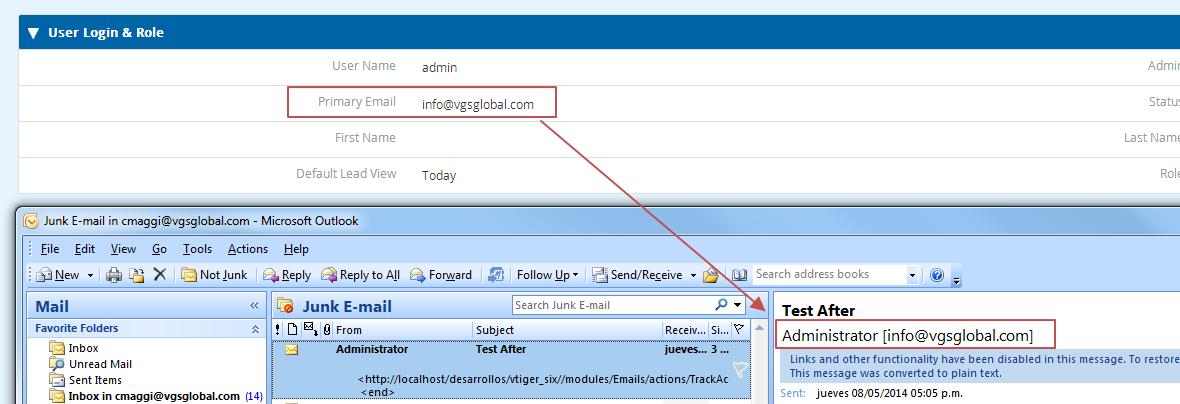 One SMTP Per User vTiger 6 - Add on