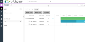 VGS Gantt Charts for Vtiger