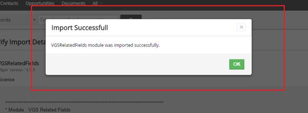 Vtiger zip module file importing