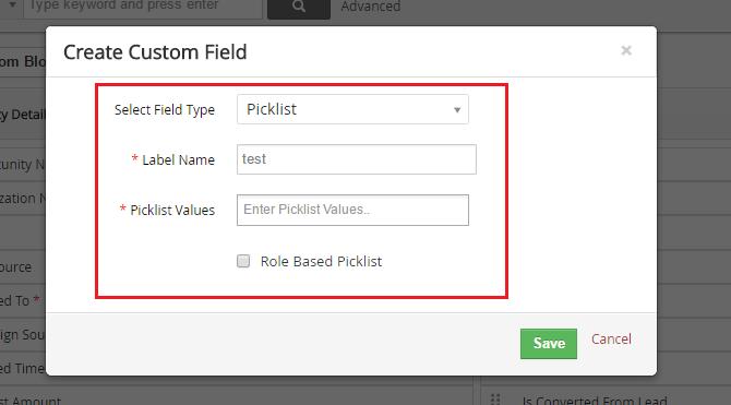 Vtiger CRM Picklist Editor  Customize your dropdown fields