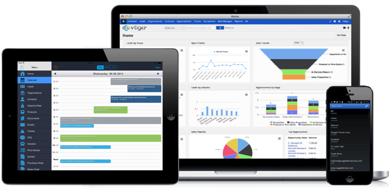 Vtiger CRM Open Source - Fully featured enterprise CRM