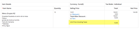 Vtiger Customizacion - Prices with taxes - Detail View