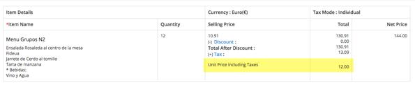 Vtiger Customizacion - Prices with taxes - Detail View