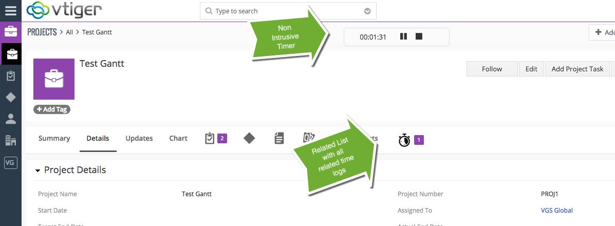 Vtiger Time Tracker Extension | Time Control for Vtiger 7