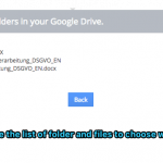 Vtiger Google Drive - Choose Folder